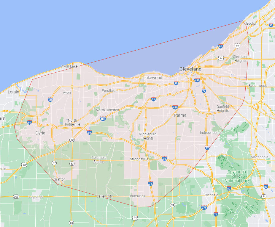 Map of Greater Cleveland